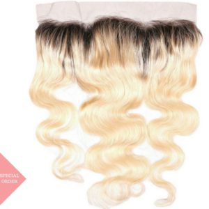 Russian Blonde Ombre Body Wave Frontal