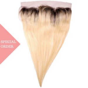 Russian Blonde Ombre Straight Frontal