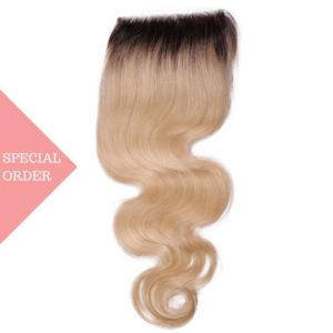 Russian Blonde Ombre Body Wave Closure