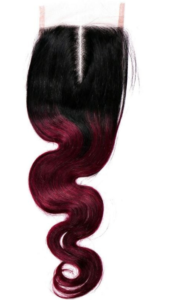 Brazilian Raspberry Ombre Body Wave Closure