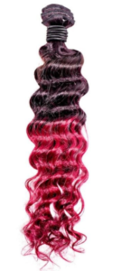 Raspberry Ombre Deep Wave Extensions