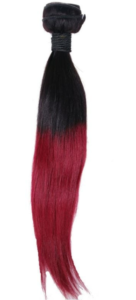 Raspberry Ombre Straight Extensions